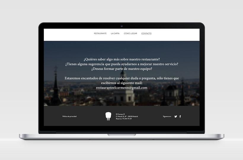 """Identidad Corporativa y website responsive """"El Carmen"""" (restaurante) 7"""