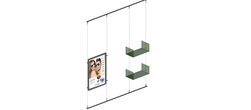 Escaparate de Farmacia con Carpetas LED y Estanterías de Cubo. 5