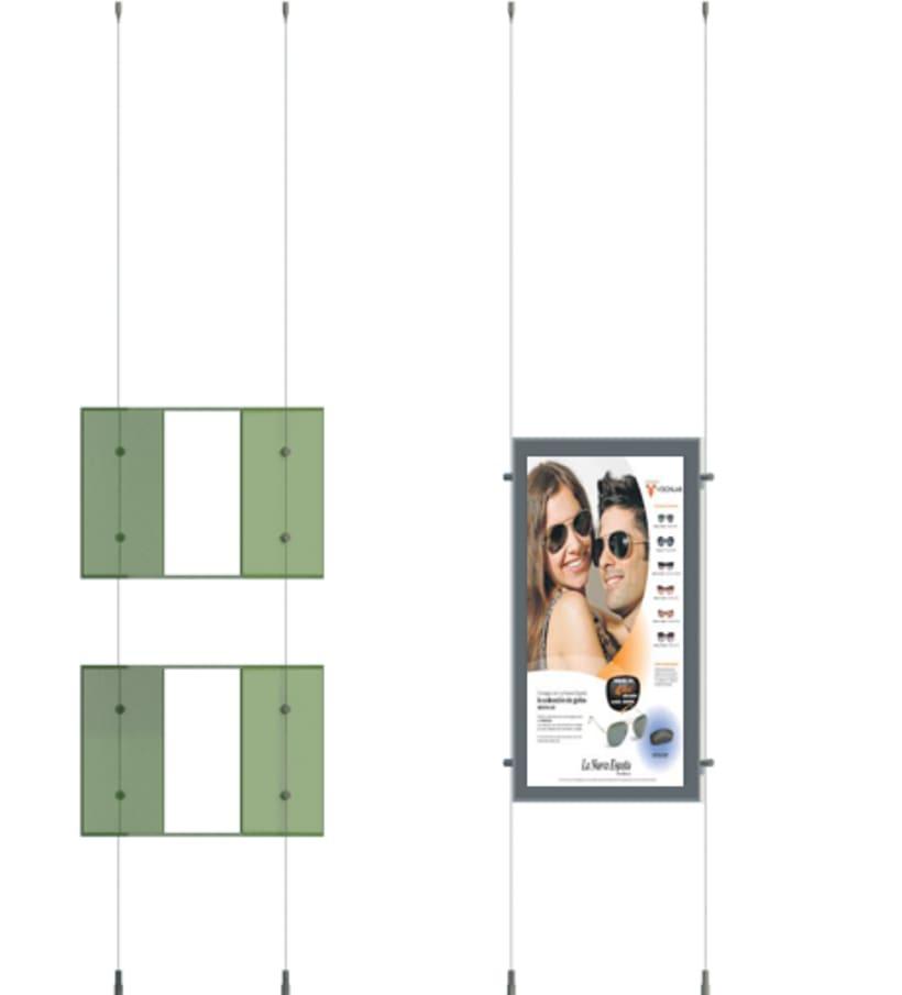 Escaparate de Farmacia con Carpetas LED y Estanterías de Cubo. 3