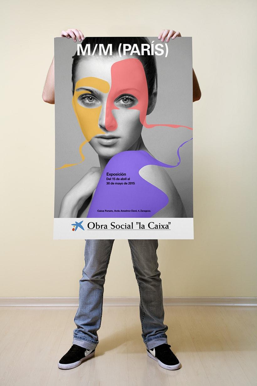 Campaña ficticia para la exposición  de M/M PARÍS en  Caixa Forum Zaragoza -1