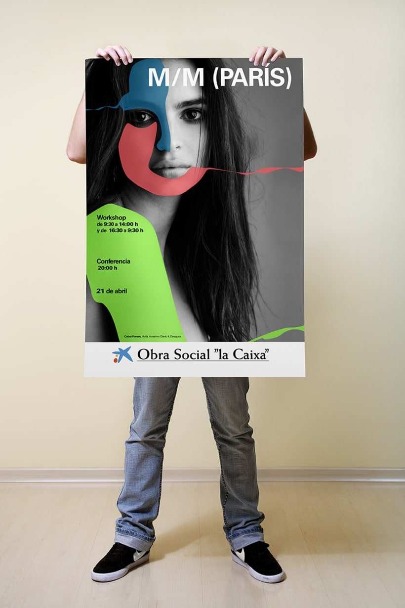Campaña ficticia para la exposición  de M/M PARÍS en  Caixa Forum Zaragoza 0