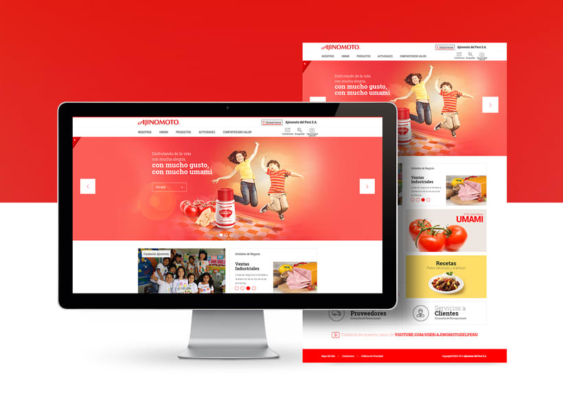 Ajinomoto Perú - Web Design & Development -1