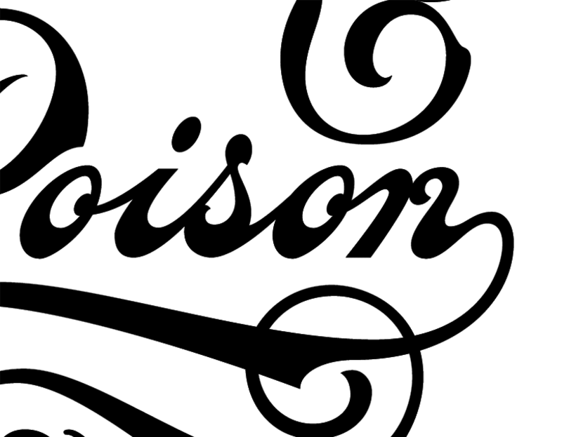 Black Poison. Rotulación de cristal a mano. 7