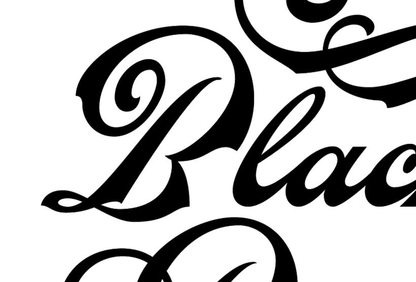 Black Poison. Rotulación de cristal a mano. 6