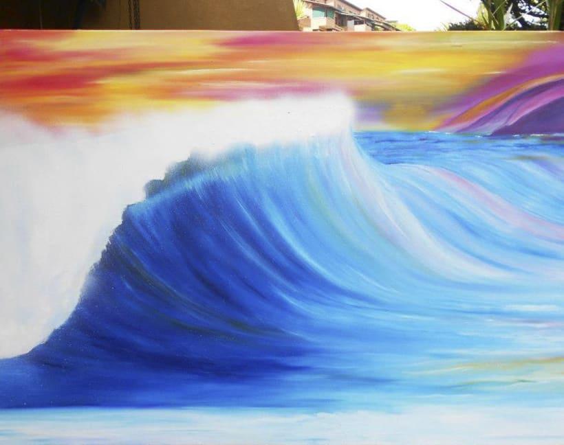 Waves Oil Paint 0