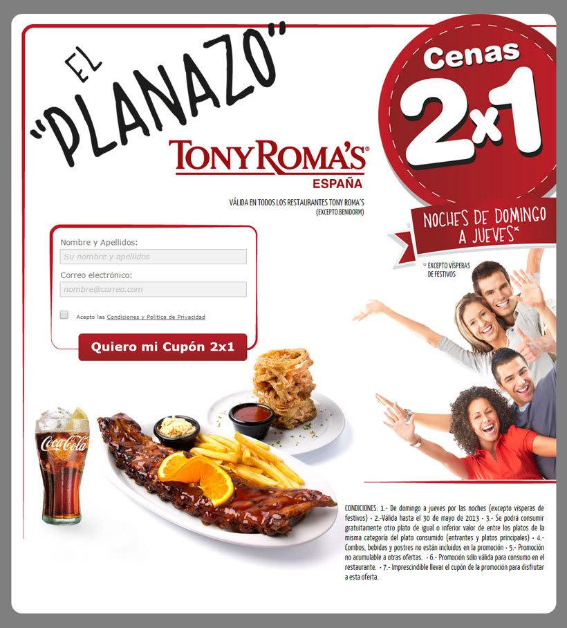 Tony Roma´s -Landing page promocional- 0