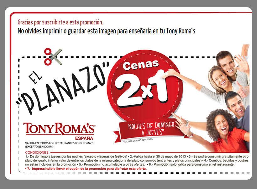 Tony Roma´s -Landing page promocional- 2