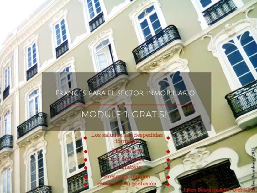 El 1er modulo #gratis de formación de #francés #online para: el sector #INMOBILIARIO -1