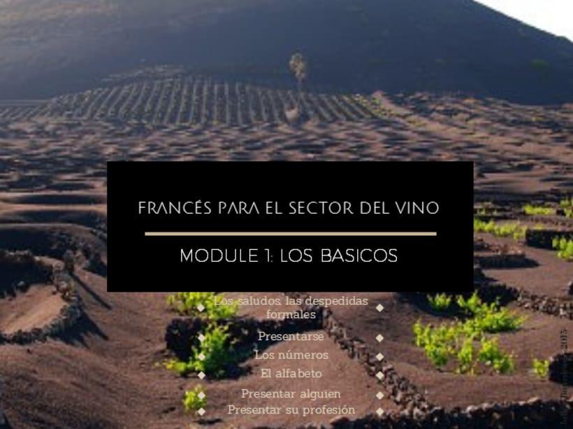 1ero modulo #gratis de formación de #francés #online para el sector del #Vino y #enoturismo en las Islas Canarias -1