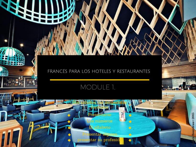 1er modulo #gratis de formación de #francés #online para #restaurantes y #hoteles en las Islas Canarias -1