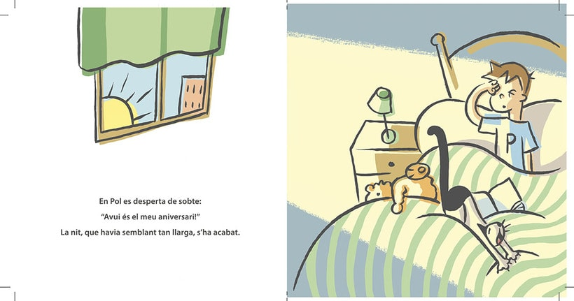 """Proyecto de álbum infantil """"Un cursa d'aniversari"""" (muestra de 4 ilustraciones) 1"""
