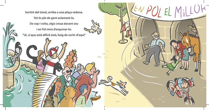 """Proyecto de álbum infantil """"Un cursa d'aniversari"""" (muestra de 4 ilustraciones) 2"""