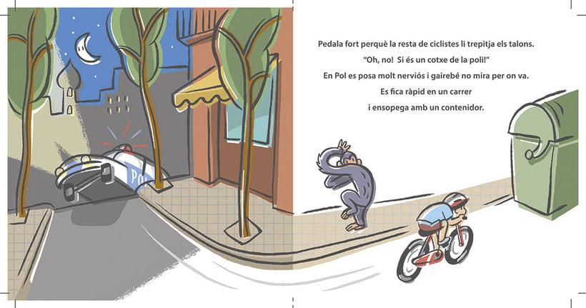 """Proyecto de álbum infantil """"Un cursa d'aniversari"""" (muestra de 4 ilustraciones) 3"""