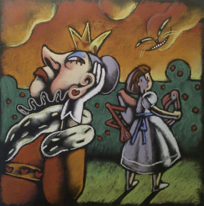 """Ilustración expuesta en la exposición sobre """"Alicia en el Pais de las Maravillas"""" del XXXI Salón del Libro Infantil y Juvenil de Mollerussa -1"""