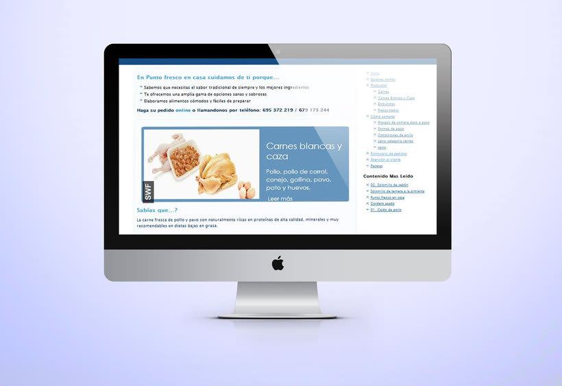 Web development and Design puntofrecoencasa.com 1