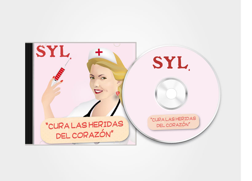 Vector illustration and layout for the cover, back and label of a SYL CD 1
