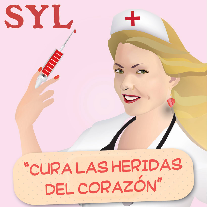 Vector illustration and layout for the cover, back and label of a SYL CD 2