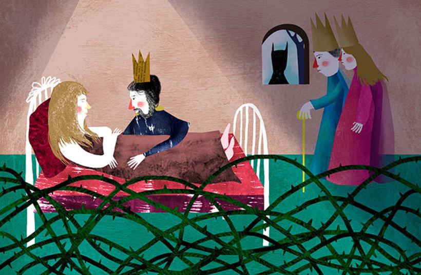 cuentos tradicionales,  bella durmiente  -1