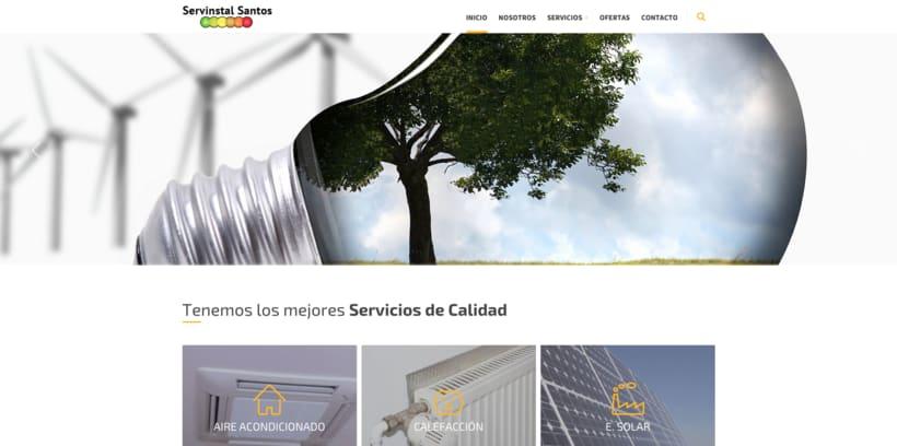 Web para Servinstal Santos S.L 2