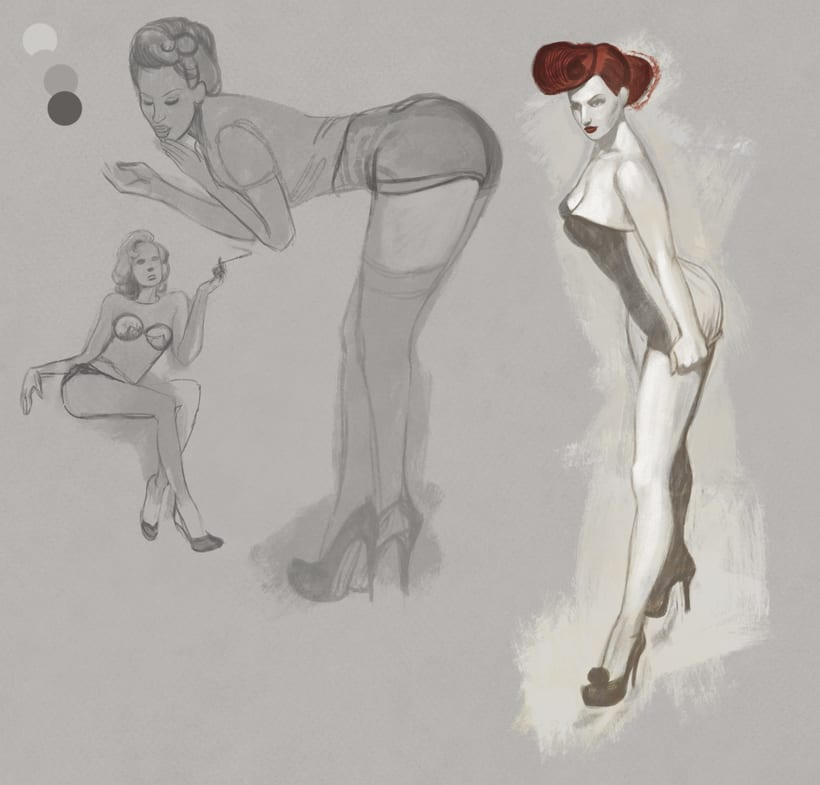Warm Up, Pin up Girls. 0