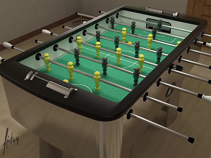 Modelado y texturizado 3D - Futbolín 1