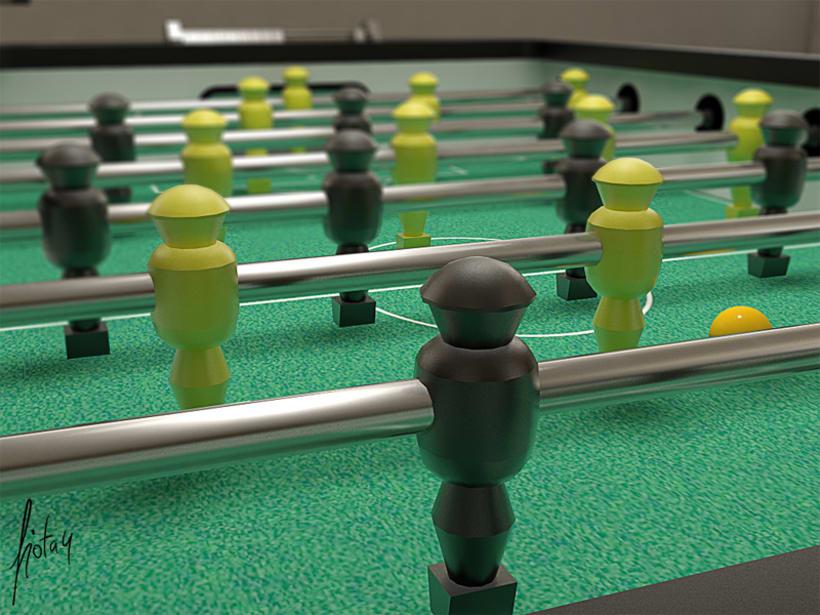 Modelado y texturizado 3D - Futbolín 2