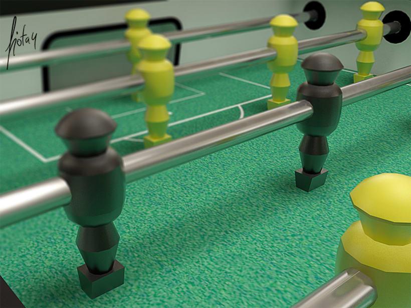 Modelado y texturizado 3D - Futbolín 3