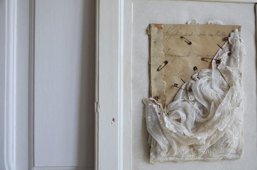 """""""...y Luís """". Montaje Escultura Collage Arte. Poesía visual. Material antigüo. Técnica Upcycling. 1"""