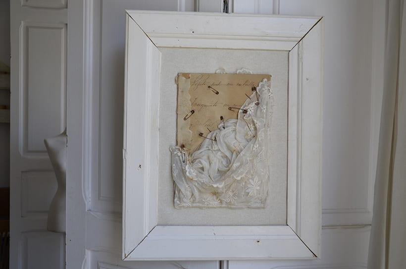 """""""...y Luís """". Montaje Escultura Collage Arte. Poesía visual. Material antigüo. Técnica Upcycling. 4"""