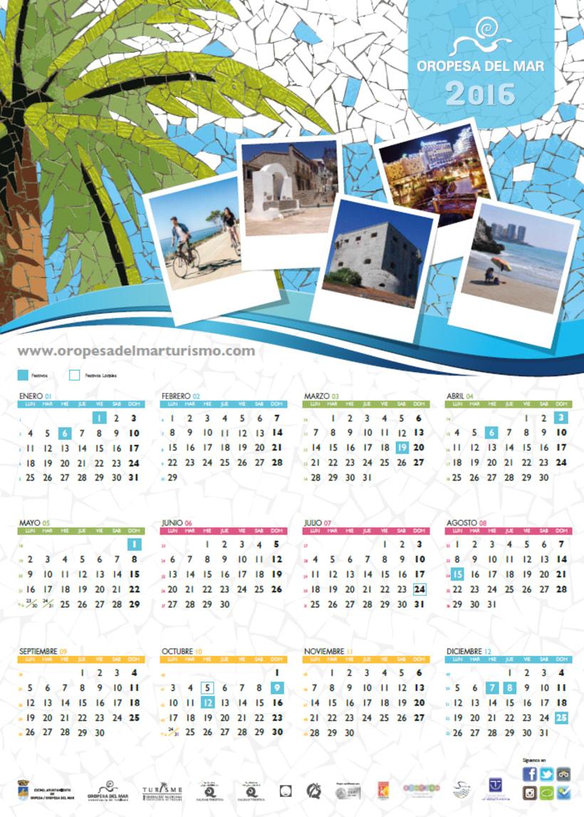 Calendario Oropesa del Mar 2016 1