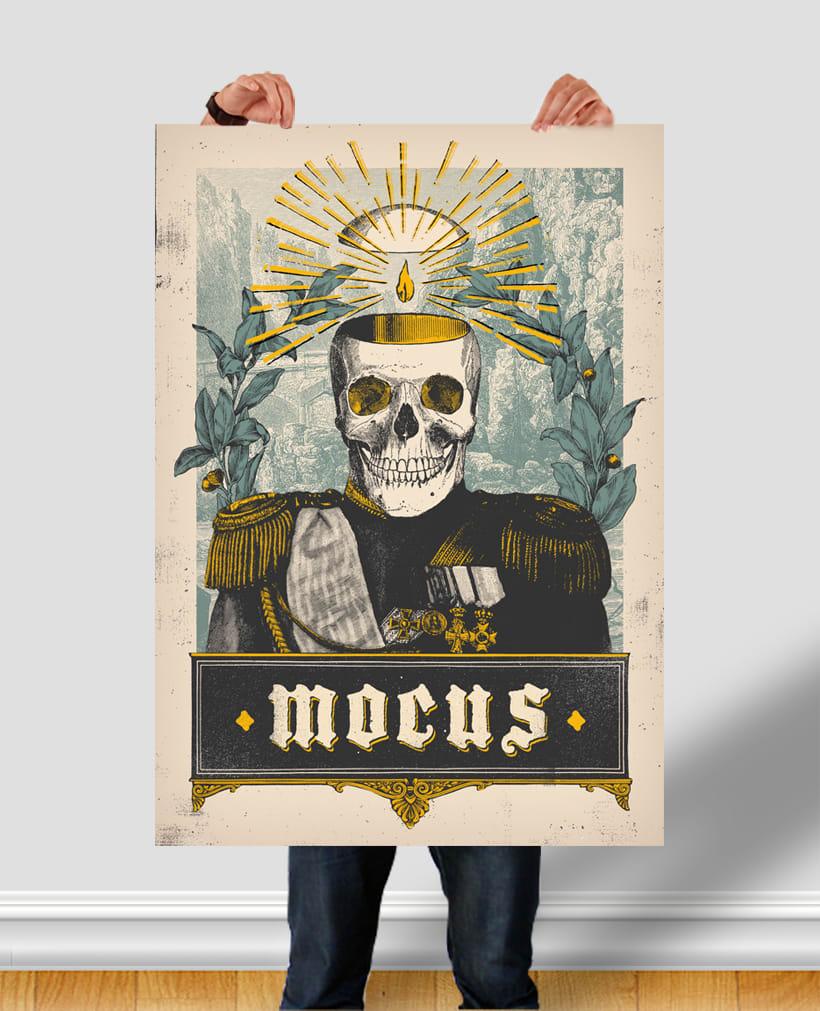 MOCUS. Cartel y camiseta. 1