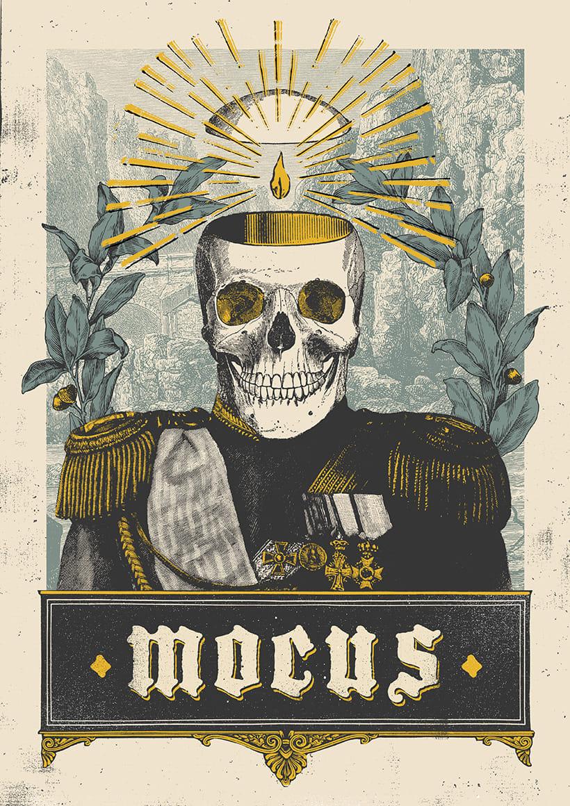 MOCUS. Cartel y camiseta. 2