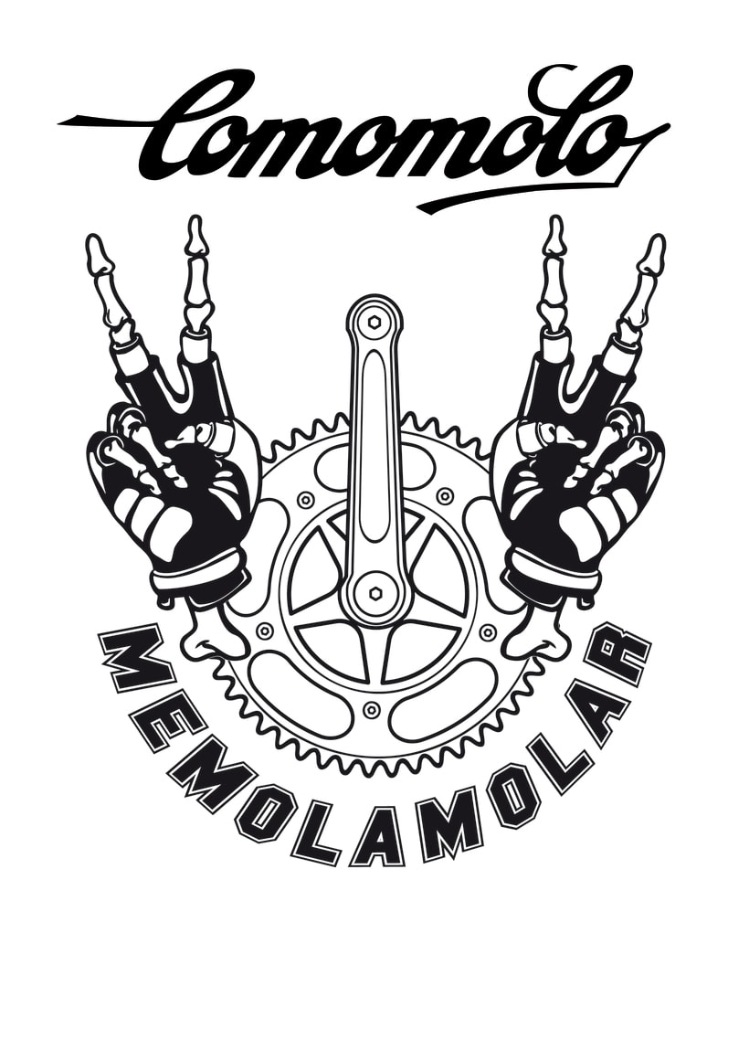 MEMOLAMOLAR, CULTURE BIKE;  serigrafía y calcomania 0