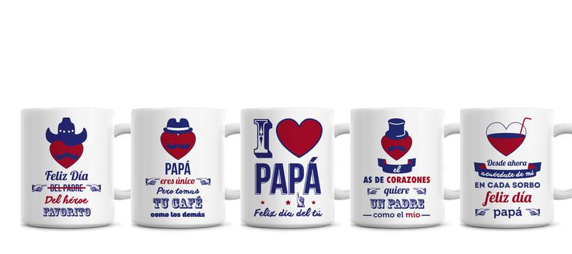Tazas a dos tintas para el día del padre. -1