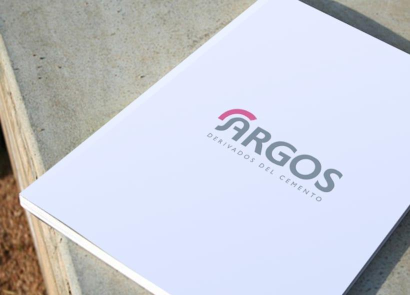 """Rediseño de logotipo para Argos, una empresa fabricante de derivados del cemento. El logo escogido utiliza la forma del casco y la integra dentro del nombre aprovechando la forma de la """"A"""" -1"""