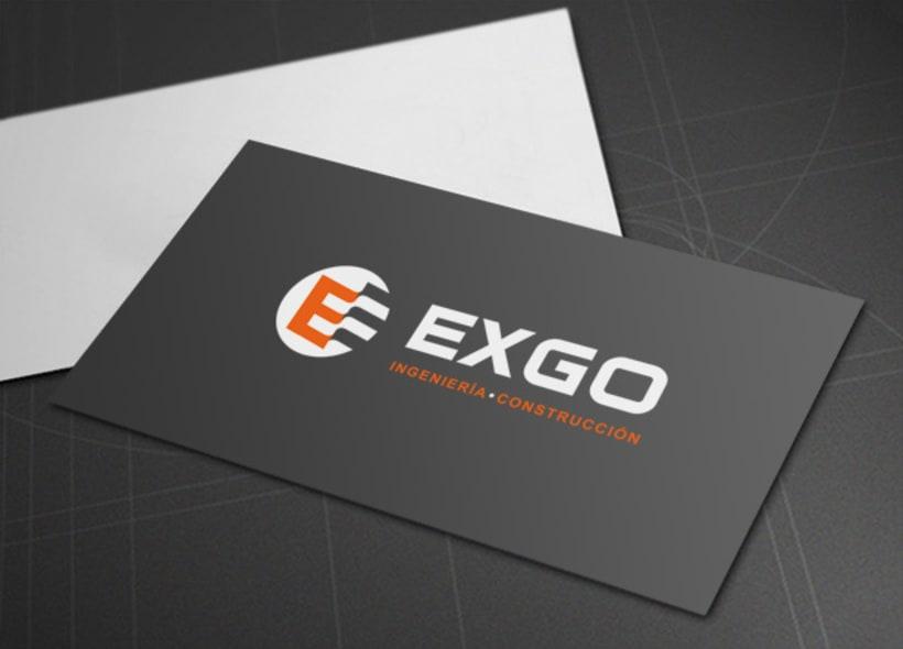 Diseño de logotipo para Exgo, una empresa de ingeniería mexicana. -1