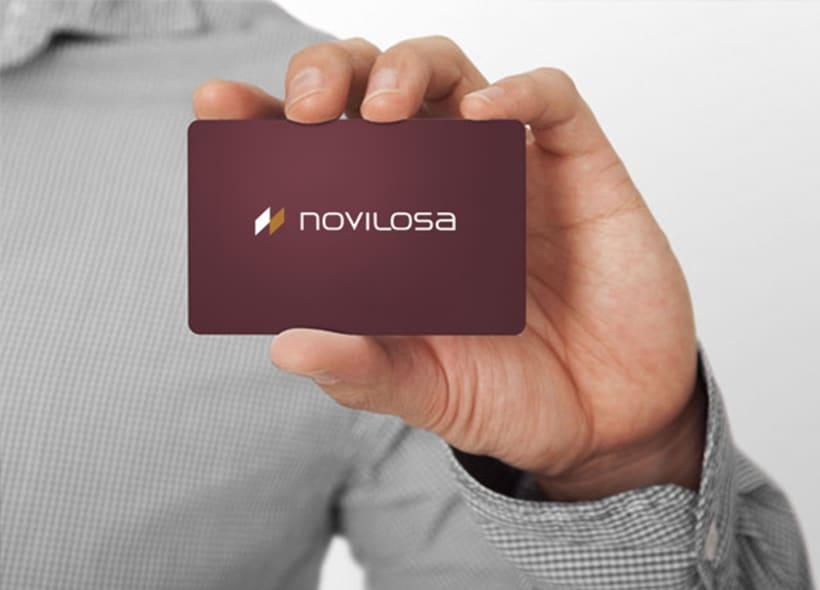 Logotipo para Novilosa, una empresa fabricante de pavimentos y revestimientos cerámicos para multitud de aplicaciones como viviendas, exteriores, piscinas, construcciones industriales, etc... -1