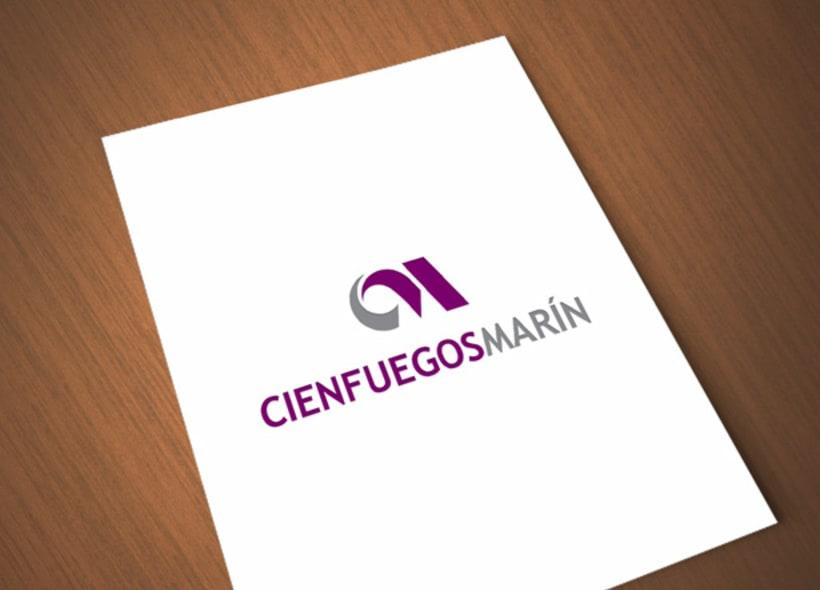 Logotipo para Grupo Cienfuegos Marín, una empresa constructora y promotora de edificaciones y viviendas residenciales, así como la reparación y mantenimiento de las mismas. -1