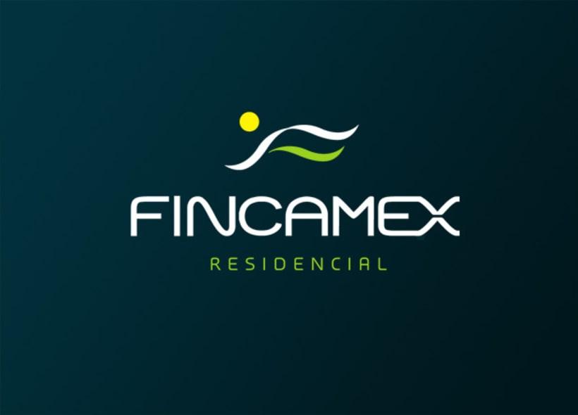 Logotipo para Fincamex, un complejo residencial de viviendas de alto nivel, dotadas con servicios propios como zonas deportivas y de ocio, tiendas, etc... -1