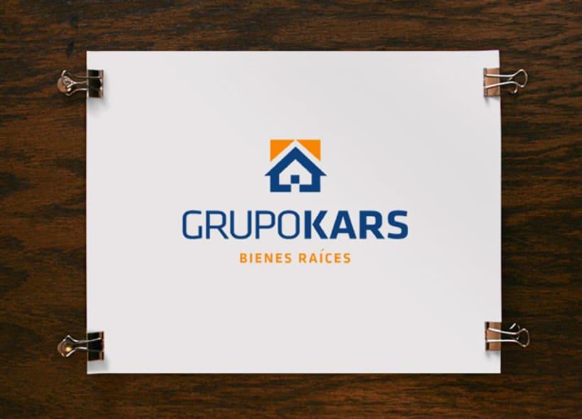 Diseño de logotipo para Grupo Kars, una empresa mexicana que ofrece servicios profesionales en el ramo inmobiliario: ventas y alquiler de viviendas incluyendo asesoría financiera y legal. -1
