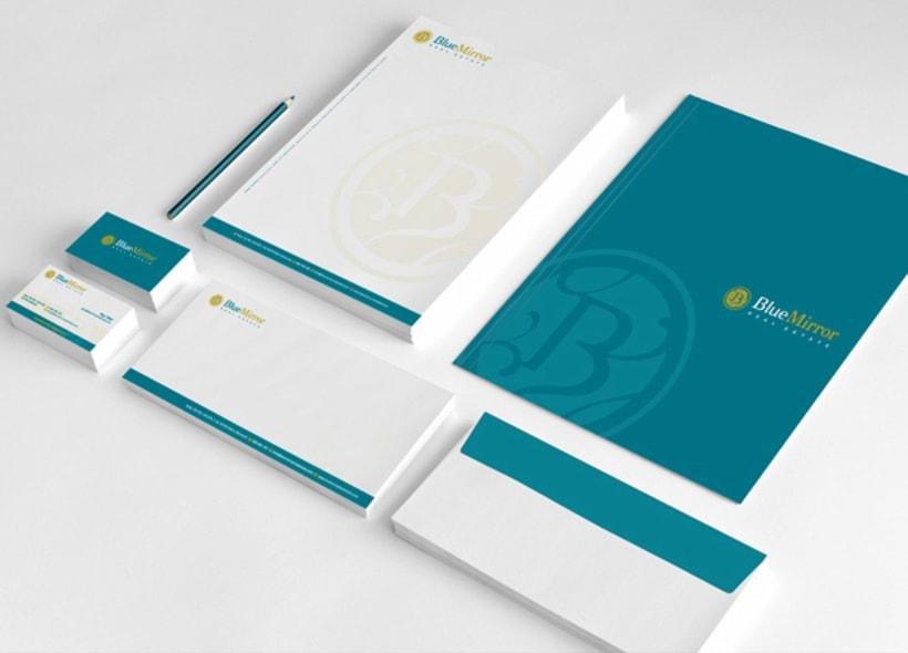 diseño de logotipo y papelería básica para una empresa inmobiliaria ubicada en la localidad alicantina de Jávea. -1