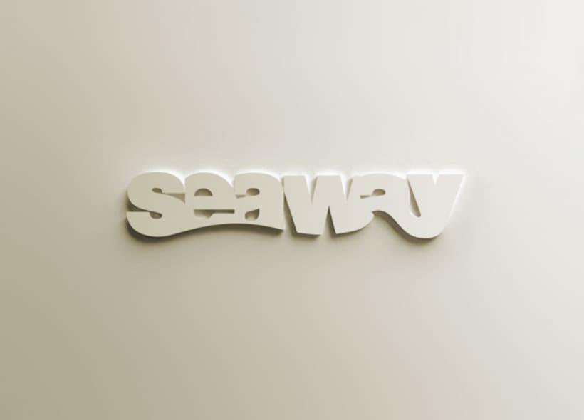 Diseño de logotipo para una tienda de ropa surfera y juvenil.  Jugamos con la morfología de las letras simulando una ola que recorre la parte inferior de la palabra. -1