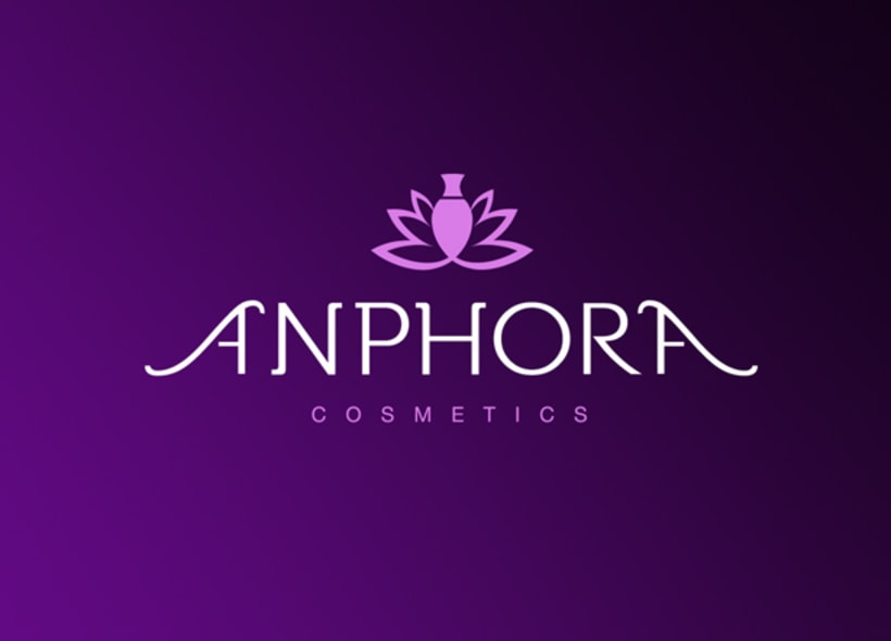 Logotipo para Anphora, una tienda madrileña donde se venden productos cosméticos y de peluquería: perfumes, maquillaje, tintes, champús, cremas, etc... -1