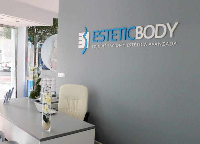 Logotipo para Estetic Body, una franquicia de centros de estética y fotodepilación avanzada con sede en Barcelona. -1