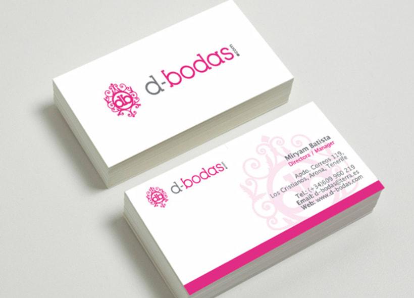 Logotipo para d-bodas.com, una empresa ubicada en Tenerife y dedicada a la gestión integral de bodas y grandes eventos en la isla. -1