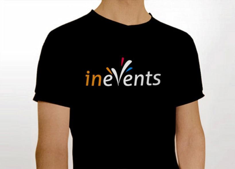 Diseño de logotipo para Inevents, una empresa madrileña dedicada a la organización y promoción de eventos musicales, culturales y feriales. -1