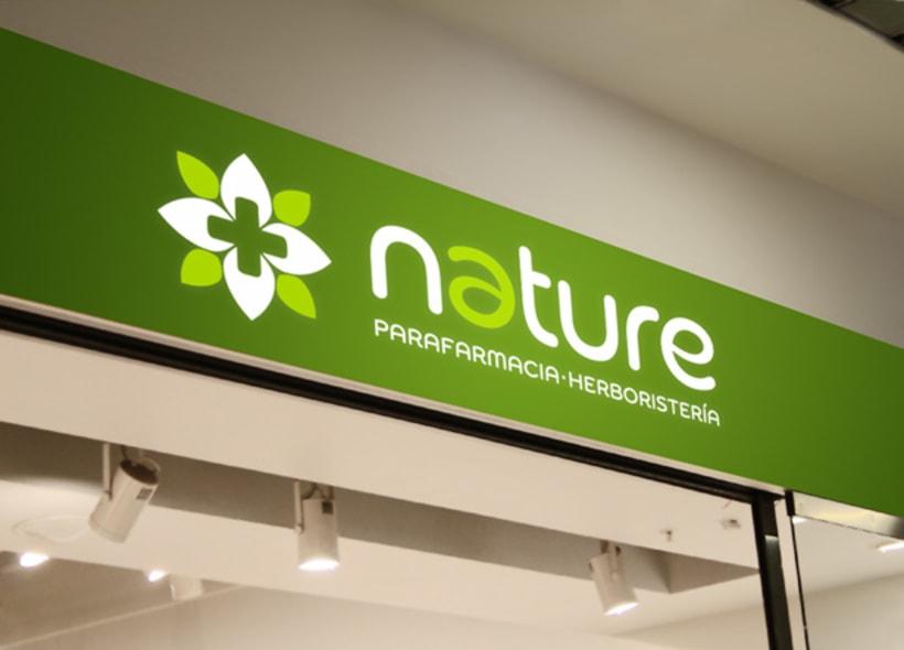 Diseño de logotipo para Nature, un establecimiento de parafarmacia y herboristería ubicado en las Islas Canarias. -1
