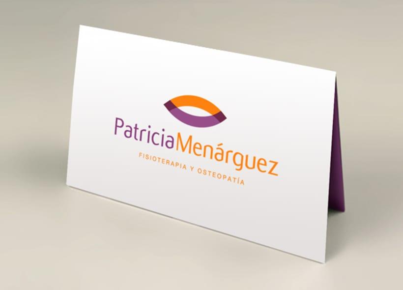 Diseño de logotipo para Patricia Menárguez, un centro de fisioterapia y osteopatía ubicado en Alicante. -1