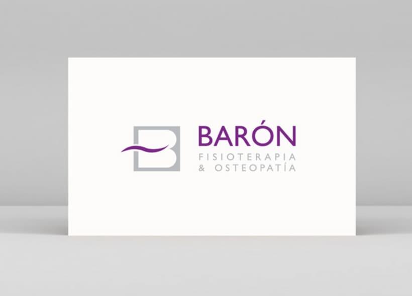 Logotipo para Barón, un centro ubicado a las afueras de Madrid y especializado en fisioterapia, osteopatía, pilates, drenaje linfático, etc... -1