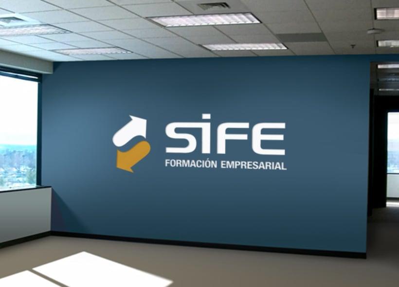 Diseño de logotipo para Sife, una empresa de formación y capacitación donde se imparten todo tipo de cursos que ayudan a preparar a los alumnos para su incorporación al mercado laboral. -1